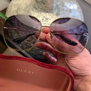 Authentic GUCCI 63 Glitter Acetate/Metal sunglass
